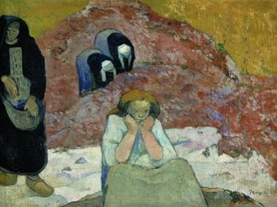 Vendanges a Arles-miseres humaines. Harvesting of grapes at Arles-human misery.(1888) by Paul Gauguin