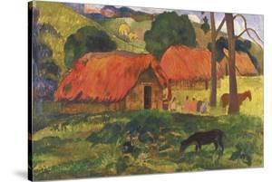 Village in Tahiti by Paul Gauguin