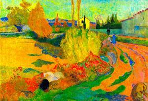Paul Gauguin Von Arles Art Print Poster