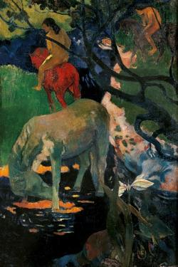 White Horse by Paul Gauguin