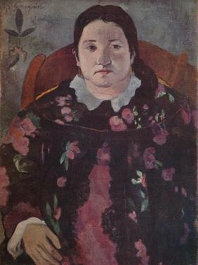 'Woman's Head', 1923 by Paul Gauguin