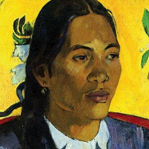 Woman With Flower (detail) by Paul Gauguin