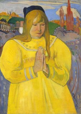Young Christian Girl (Bretonne en Priere) by Paul Gauguin