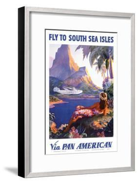 Fly to the South Seas Isles, via Pan American Airways, c.1940s by Paul George Lawler