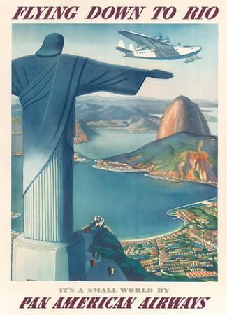 Flying Down to Rio Brazil - Pan American Airways (PAA) - Christ the Redeemer Statue by Paul George Lawler