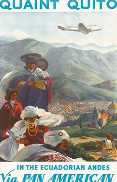 Pan American: Quaint Quito - In the Ecuadorian Andes, c.1938 by Paul George Lawler