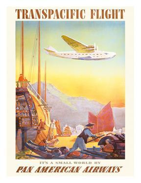 Pan American: Transpacific Flight, c.1940s by Paul George Lawler