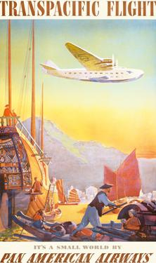 Pan American: Transpacific Flight, c.1940s by Paul George Lawler