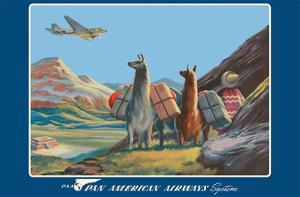 South America - Wings Over the World - Pan American Airways System - Douglas DC-3 by Paul George Lawler