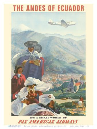 The Andes of Ecuador - South America - Pan American Airways (PAA)