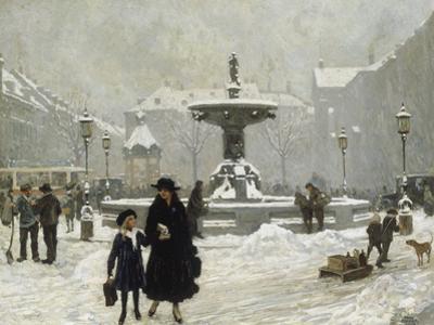 A Winter Day in Gammeltorv, Copenhagen, 1917