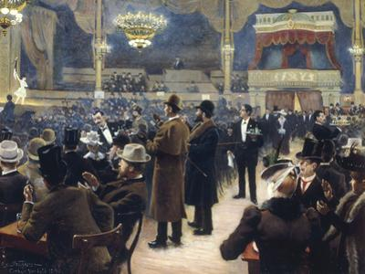At the Music Hall in the Cirkus Bygningen, Jernbaneegade, Copenhagen, 1891