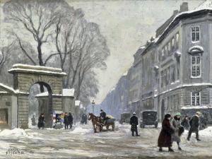 The Kongenshave in Winter by Paul Gustav Fischer