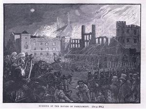 Burning of the Houses of Parliament 1834 by Paul Hardy