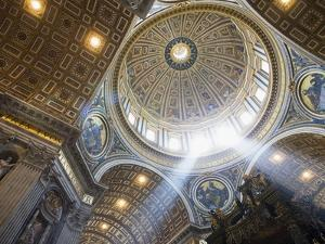 The Ceiling of St. Peter's Bascilica by Paul Hardy