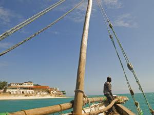 East Africa, Tanzania, Sailing an Arab Dhow in Zanzibar by Paul Harris