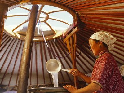 Gobi Desert, Cooking Horses Milk to Produce the Spirit, Arak, in the Gobi Desert, Mongoli