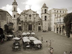 Havana, Cafe in Plaza De La Catedral, Havana, Cuba by Paul Harris
