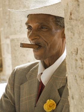 Havana, Cuban Man, Plaza De La Catedral, Havana, Cuba by Paul Harris