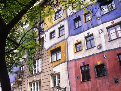 Hundertwasser Haus, Apartment House Designed by Artist Friedensreich Hundertwasser, Vienna, Austria by Paul Harris