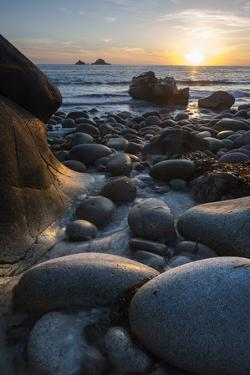 Rocky Beach at Porth Naven, Land's End,Cornwall, England by Paul Harris