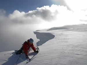 Scottish Highlands, Glencoe, Ice Climbing on the Cliffs of Aonach Mor, Scotland by Paul Harris