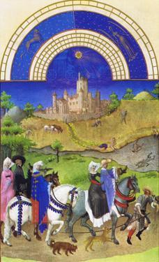 Le Tres Riches Heures Du Duc De Berry - August by Paul Herman & Jean Limbourg