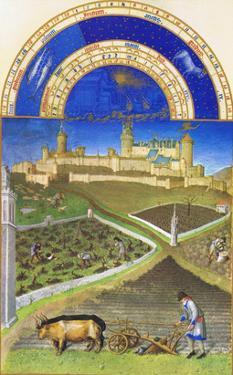 Le Tres Riches Heures Du Duc De Berry - March by Paul Herman & Jean Limbourg