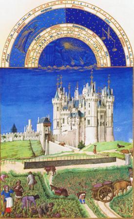 Le Tres Riches Heures Du Duc De Berry - September by Paul Herman & Jean Limbourg