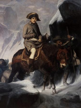 Bonaparte Crossing the Alps by Paul Hippolyte Delaroche