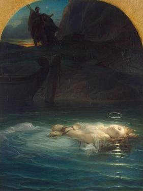 Christian Martyr Drowned in the Tiber During the Reign of Diocletian, 1853 by Paul Hippolyte Delaroche