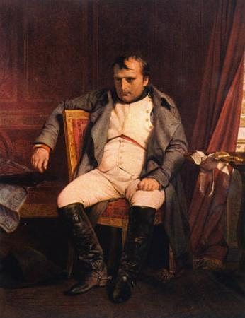 Napoleon Emperor Defeated at Fontainebleau 1814 by Paul Hippolyte Delaroche
