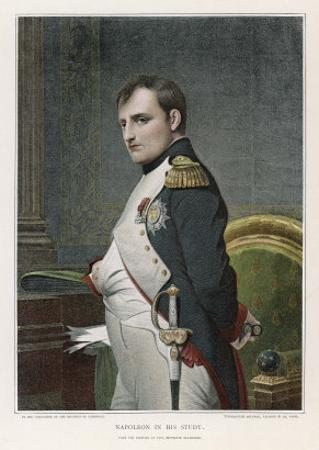 Napoleon Emperor of France in His Study Circa 1807 by Paul Hippolyte Delaroche
