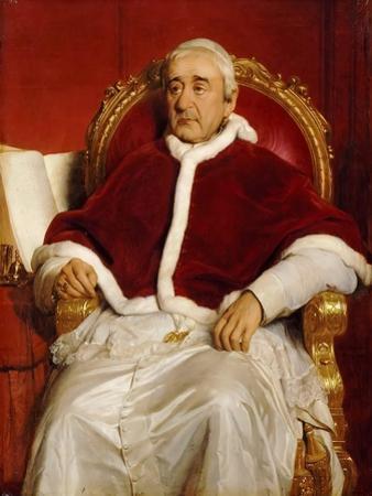 Portrait of Pope Gregory XVI (1765-184) by Paul Hippolyte Delaroche