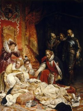 The Death of Elizabeth I, Queen of England by Paul Hippolyte Delaroche