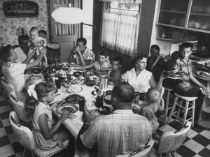 Paul Horsch and His Family During their Sunday Dinner
