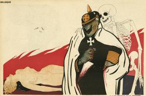 German Kaiser and the Corpse by Paul Iribe