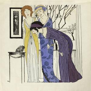 Les robes de Paul Poiret racontées, Paul Iribe, Planche 3, Trois robes drapées by Paul Iribe