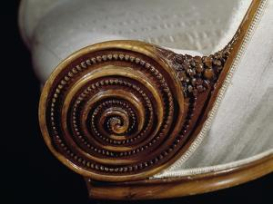 Spiral Motif, Detail from Art Deco Style Armchair, Ca 1913 by Paul Iribe