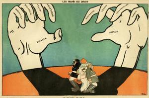 WW1 Cartoon, Large Hands by Paul Iribe