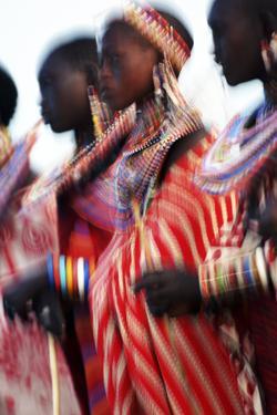 Male Maasai Dancers, Amboseli National Park, Kenya by Paul Joynson Hicks