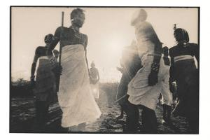 Samburu Dancers Performing Traditional Dance in Kenya by Paul Joynson Hicks