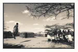 Samburu Dancers Performing Traditional Dance in their Village Boma, Kenya by Paul Joynson Hicks