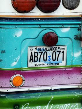 Detail of Numberplate at Back of 'Chicken Bus', Most Common Transport in El Salvador by Paul Kennedy