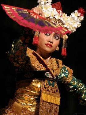 Gamelan Dancer Performing During Bali Arts Festival, Denpasar, Bali, Indonesia by Paul Kennedy