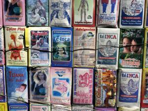 Medicinal Teas for Sale Outside Vega Central De Santiago by Paul Kennedy