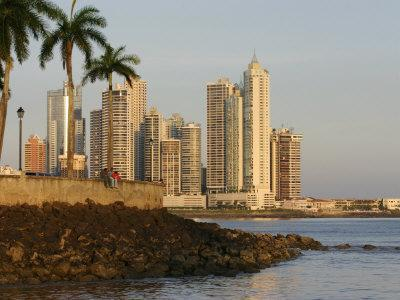 Skyline of Highrise Apartments in Punta Paitilla, Panama City, Panama