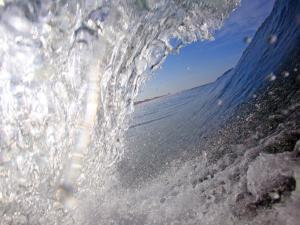 Surfer's Perspective Looking Out Barrel of Wave, at Popular Surfing Beach Playa Aserradores by Paul Kennedy