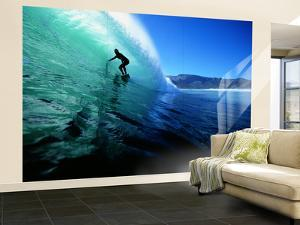 """Surfing the Tube at """"Dunes,"""" Noordhoek Beach, Cape Town, South Africa by Paul Kennedy"""
