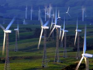 Te Apiti Wind Farm, Tararua Ranges, New Zealand by Paul Kennedy